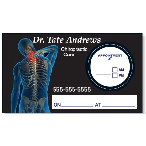 Appointment Card w/Removable Round Label