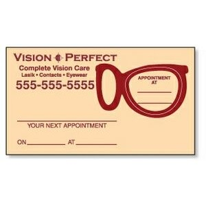 Appointment Card w/Removable Eyeglass Lens Label