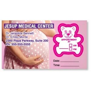 Appointment Card w/Removable Teddy Bear Label