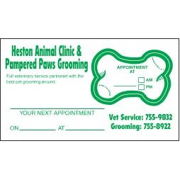 Appointment Card w/Removable Bone Label