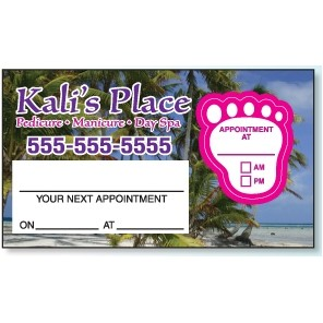 Appointment Card w/Removable Foot Label