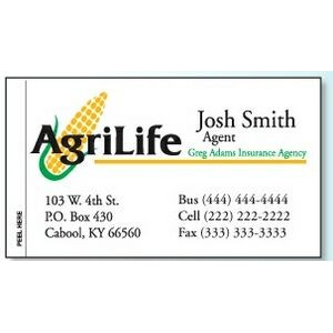 Appointment Card w/Removable Rectangle Label