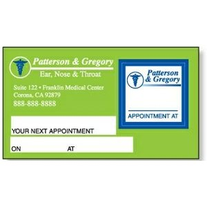 Appointment Card w/Removable Square Label